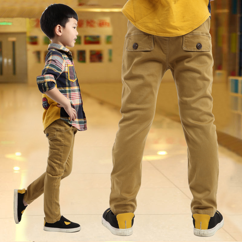 boy child casual pants autumn and winter child trousers plus velvet 2017 children's clothing autumn thickening big boy trousers children s clothing male child jeans trousers spring autumn child jeans big boy letter print jeans trousers casual pants 4 14y