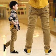 Garçon enfant pantalon décontracté automne et d'hiver enfant pantalon plus le velours de 2016 enfants vêtements automne épaississement grand garçon pantalon