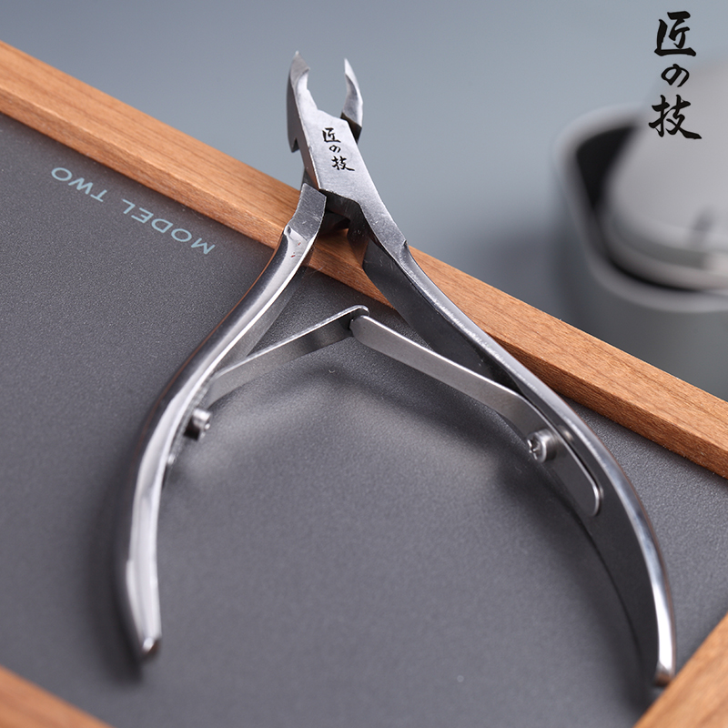 1Pc Stainless Steel Nail Cuticle Cutter Dead Skin Scissor Ingrown Nail Clipper Remover Double Fork Professional Pedicure Tool stainless steel handle cuticle fork silver