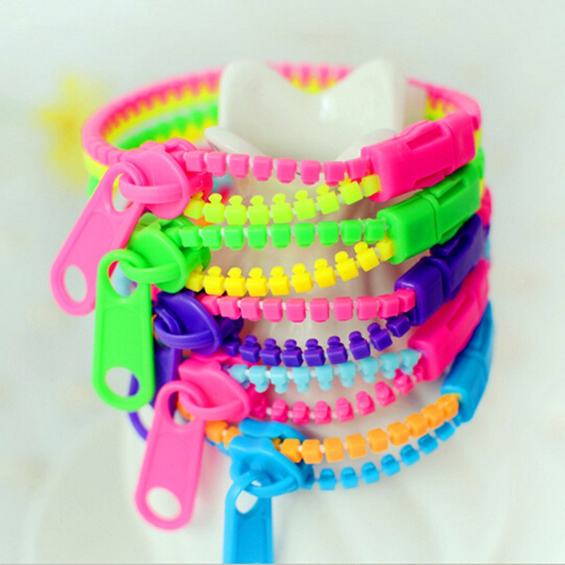 10pcs/set Kids Children Hand Sensory Toys Stress Relief Focus Toys Zipper Bracelet Fidget Gift Toy