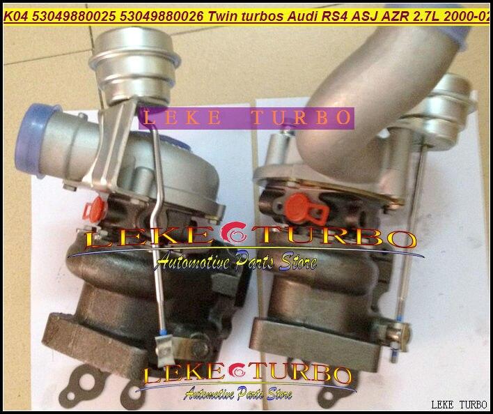 K04 025 026 53049880025+ 53049880026+ 53049700025+ 53049700026 Twin Turbo K04-025 K04-026 для AUDI RS4 2000-2002 ASJ Азр 2.7L