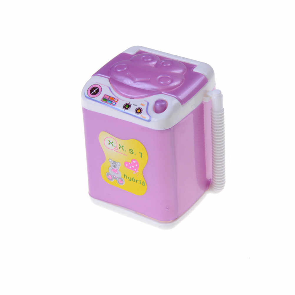 1x Frigorífico Mini Máquina de Lavar Roupa Ventilador Cama para Acessórios Da Boneca Kelly Finja Brinquedos para Meninas Boneca Acessórios Do Brinquedo Casa de Jogo