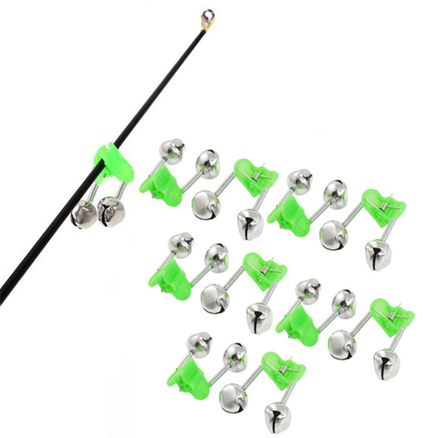 10Pc Fishing Bite Alarms Fishing Rod Stalk Bells Clamp Tip ABS Fishing Accessory spinning rods for fishing #2M10 Pakistan