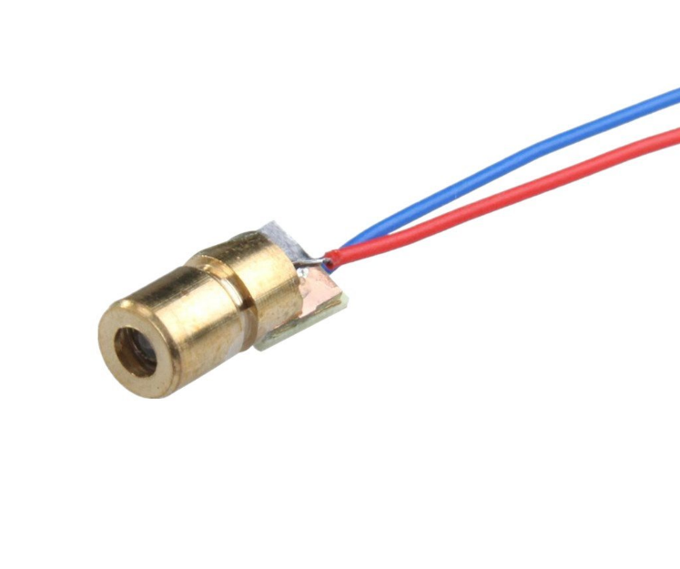 10pcs/lot 650nm 6mm 5V 5mW Laser Dot Diode Module Copper Head Red цена