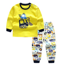 Autumn Baby Clothing Sets For Girls Boys Cotton Long Sleeve Top+Pants Kid Children Baby Girl Boy Clothes Sleepwear Pajamas DS19