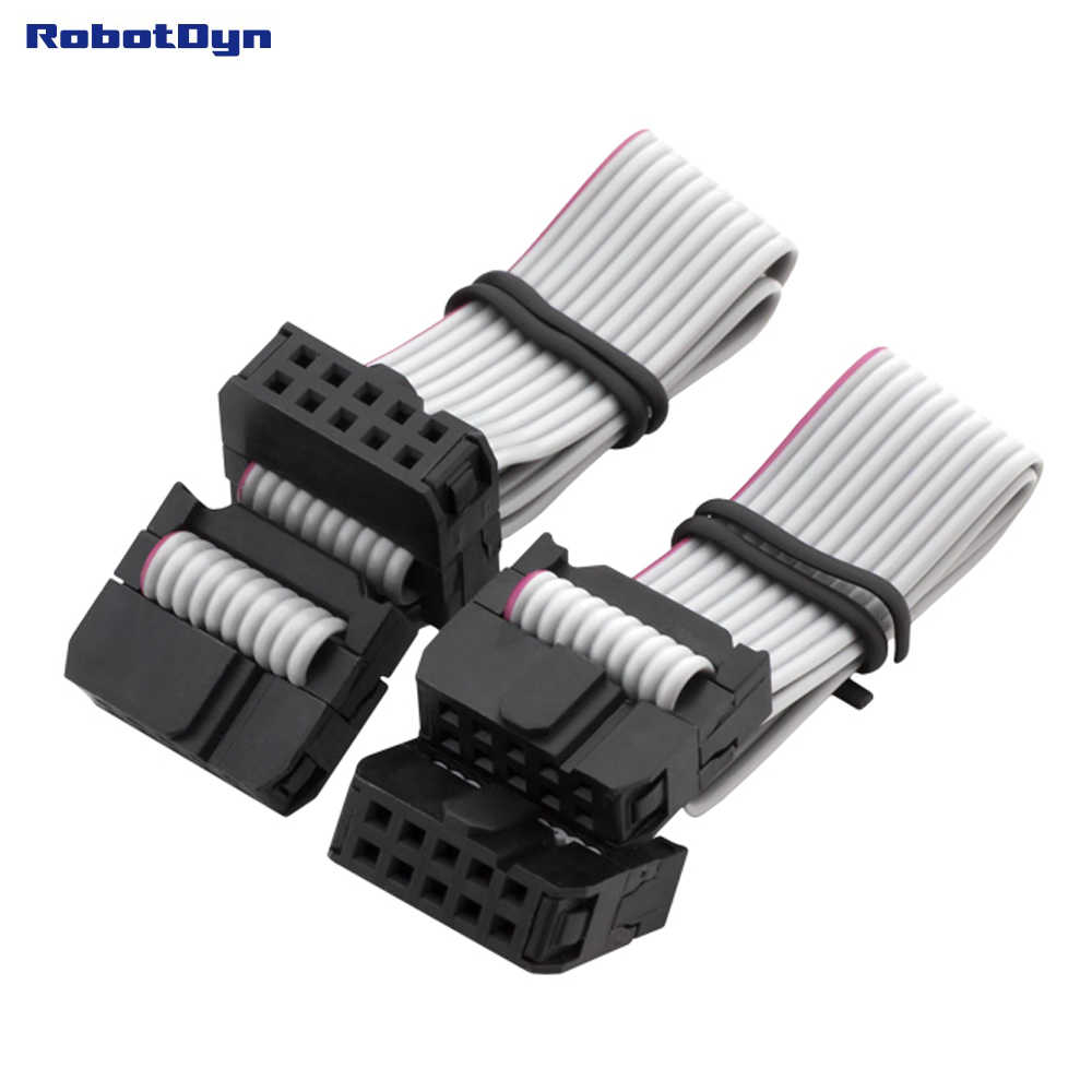 """Controlador de impressora 3D 2 pcs para conexão de cabo IDC, IDC 2x5 F/F 6 """"(300mm)"""