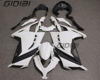 Motorcycle Unpainted White Ninja 250r 300 Fairings BodyWork Kit For KAWASAKI NINJA250 300 NINJA 250 300 2013 2015 +4 Gift