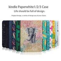 WALNEW Original Light Slim PU Leather Case 6 Inch E Book Kindle Paperwhite 1 2 3