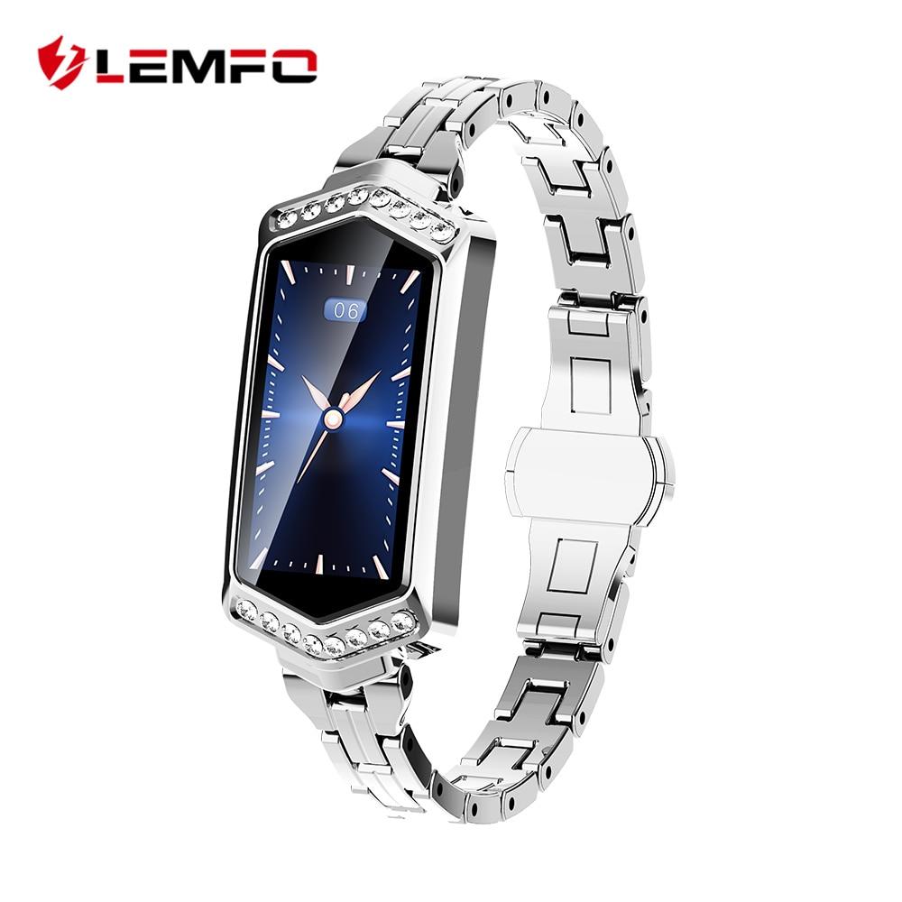 LEMFO B78 Smart Watch Women IP67 Waterproof Heart Rate Monitor Metal Strap Fitness Bracelet For Android