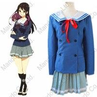 Anime Kyokai No Kanata Kuriyama Mirai Shindou Ai School Girl Unifrom Cosplay Costumes Halloween Women Dress