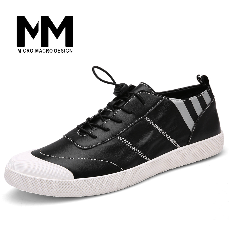 MICRO. MACRO Men Casual Shoe 2017 Spring New Design Linghtweight Breathable Solid Fashion flat shoe Pu Leather men shoe 791 micro micro 2017 men casual shoes comfortable spring fashion breathable white shoes swallow pattern microfiber shoe yj a081