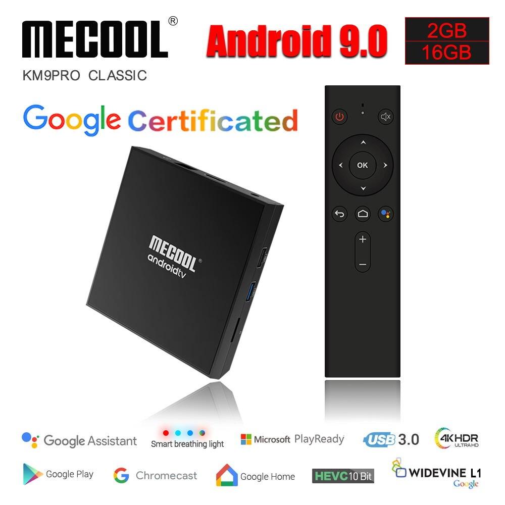 Mecool KM9 Pro Classic Console Amlogic S905X2 Adnroid 9 0 2G 16G 4K HDR Chrome Cast