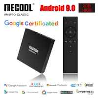 Mecool KM9 Pro Classic Console Amlogic S905X2 Adnroid 9.0 2G 16G 4K HDR Chrome Cast Voice Control Android TV Box Smart Prefix