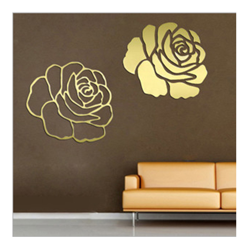 Rose D Mirror Wall Stickers For Wall Decoration DIY Home Decor - Wall decals mirror