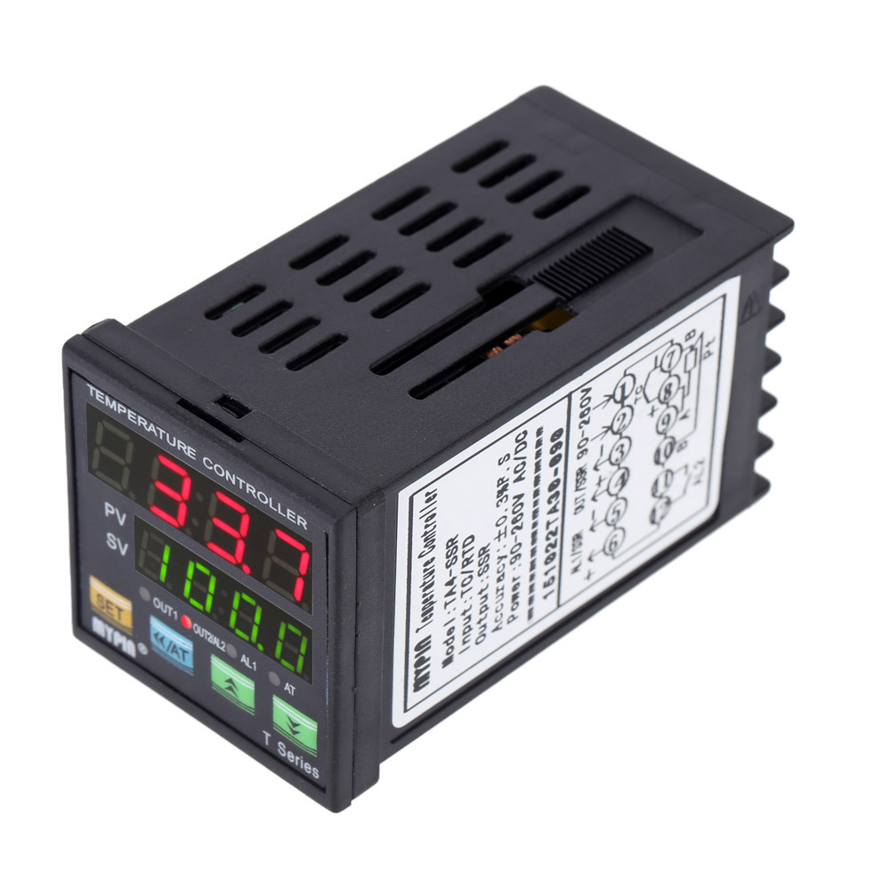 LED PID Thermometer Digital Temperature Controller Thermocouple thermostat Heating Cooling Control SSR 2 Alarm Relay TC/RTD  rex c100 digital pid temperature control controller thermostat thermometer relay output