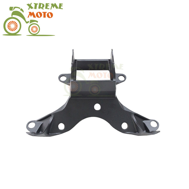 Aluminum Black Motorcycle Front Upper Fairing Bracket Stay Racer Light For YAMAHA YZF R6 2006-2007 06 07 2006 2007 mfs motor motorcycle part front rear brake discs rotor for yamaha yzf r6 2003 2004 2005 yzfr6 03 04 05 gold