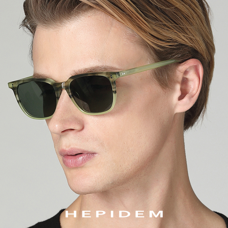 Image 2 - Acetate Polarized Sunglasses Men 2019 New High Quality Vintage Square Sun Glasses for Women Men's Korea Goggles Sunglass 9114-in Men's Sunglasses from Apparel Accessories