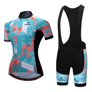 Image 3 - MILOTO Women Cycling Sets Summer cycling jersey set Road Bicycle Jerseys MTB bike Wear Breathable Cycling Clothing велосипед