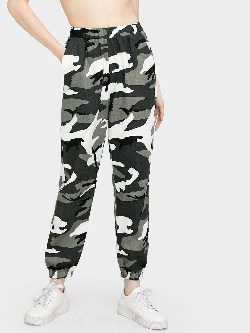 Women Camouflage Loose Long Pants Hip Hop