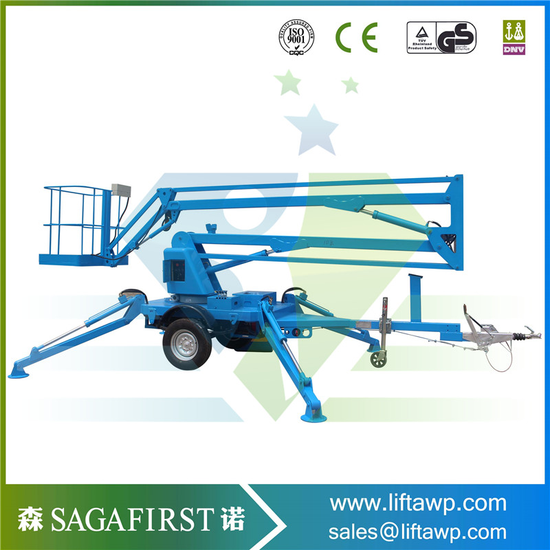 New Designed 12M Trailed Knuckle Boom Lift