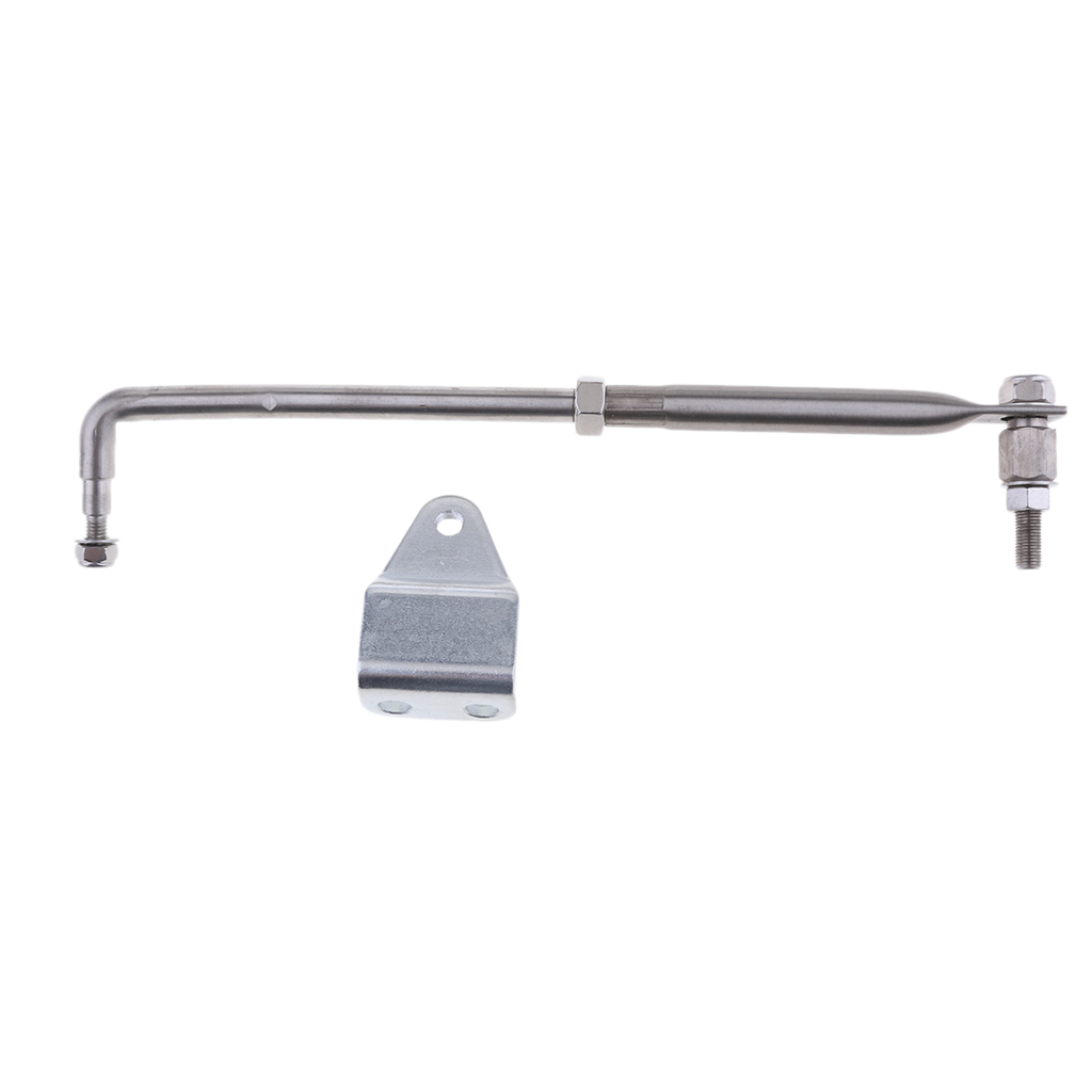 Stainless Steel Outboard Steering Link Lever Tie Rod End Set For Marine Boat