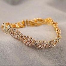 Корейская бижутерия Модный изысканный круглый блестящий браслет