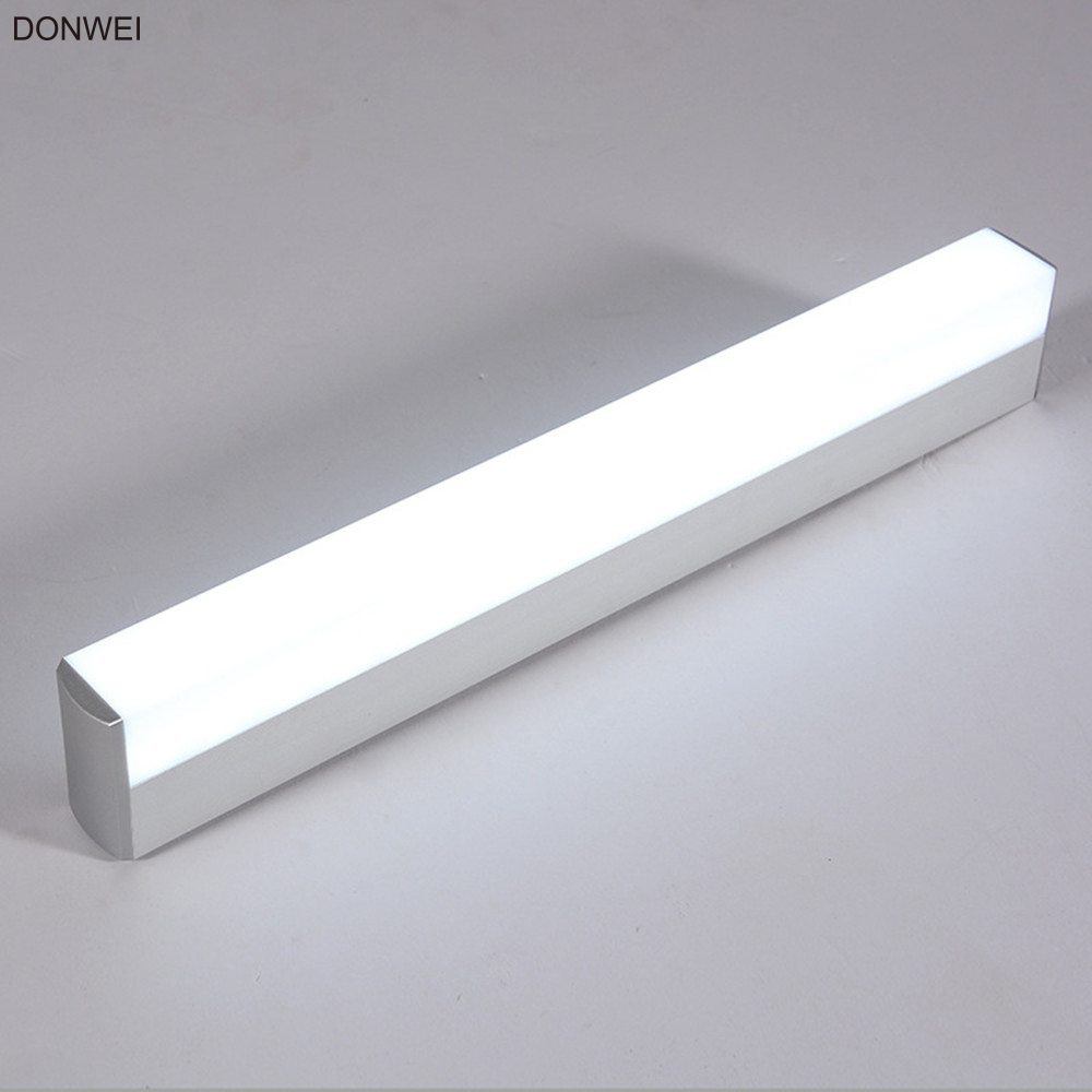 DONWEI Indoor Decor 12W 16W Wall Light LED Mirror Lights Super Bright Bar shape Lamp for Bathroom Bedroom Kitchen-in LED Indoor Wall Lamps from Lights & Lighting