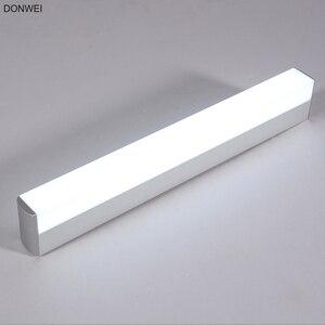 Image 1 - DONWEI Innendekor 12 Watt 16 Watt Wandleuchte LED Spiegel Lichter Super Helle Bar form Lampe für Badezimmer Schlafzimmer küche