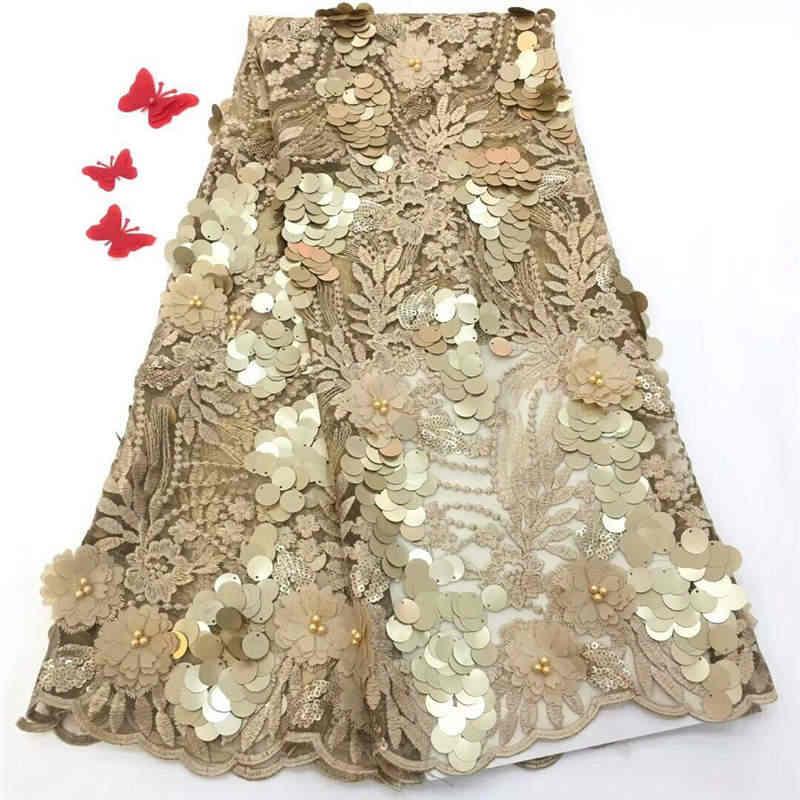 Dantel Kumaş gelin düğün yüksek kalite nijeryalı Dantel Kumaş tam taşlar ile lüks fransız net dantel tissus 5 yard