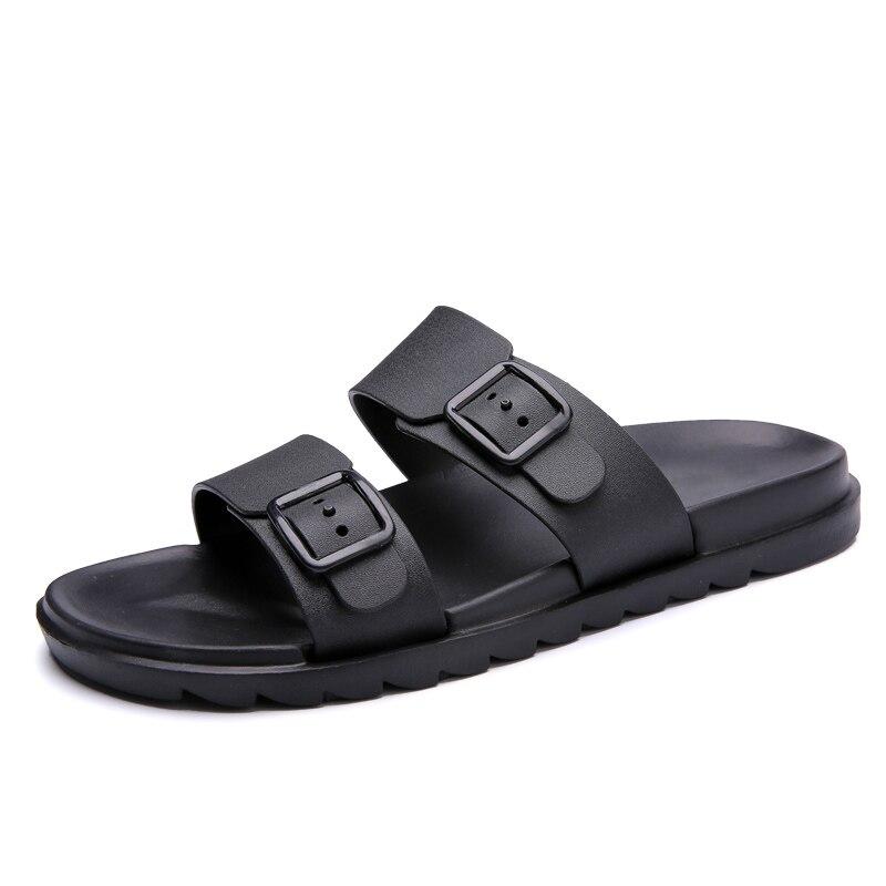 2019 Nuovi Uomini Di Modo Pistoni Di Estate Leggero Uomo Piatto Pantofole Scarpe Outdoor A Piedi Marrone Maschio Nero Casual Scarpe Da Ginnastica