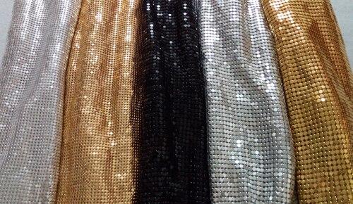 Un mètre 2mm/3mm carré Chunky paillettes métal maille tissu métallique tissu métallique Sequin paillettes tissu rideau décoration de la maison