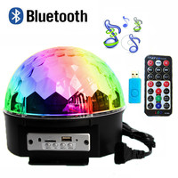 Bluetooth 9 Color MP3 Magic Ball Led Stage Lamp 21 Modes Voice Control Disco DJ Party Lights Laser Projector Lamps