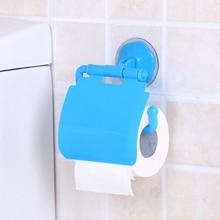 Прикрепляемый к стене, пластиковый присоски бесшовные Ванная комната Туалетная бумага в рулонах Полочка Аксессуары для ванной комнаты и туалета Бумага держатель