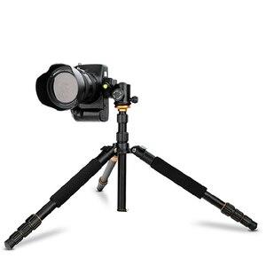 Image 3 - Beike QZSD Q999S Kit de trípode portátil para fotografía profesional, cabezal de bola de monopié para cámara DSLR de viaje, aleación de aluminio