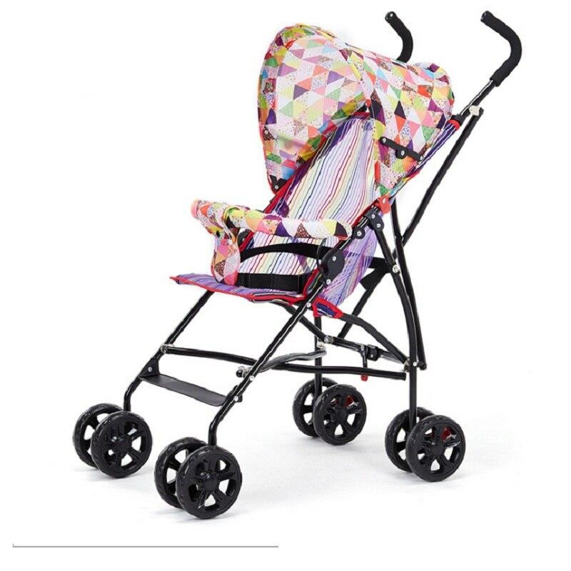 Sozzy Горячая продажа переносная, для прогулок с малышом ручной складной зонтик автомобиля складной простой складной детский четырехколесная тележка - 3