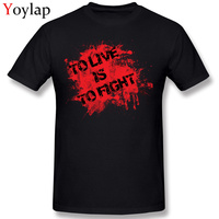 Free Shipping Classic Motto To Live Is To Fight Tops Tees Men S Summer Fall 100