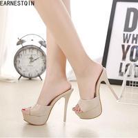 Fashion new high heel sandals Sexy Thin heel sandals Peep Toes Womens Flip Flops Shoes