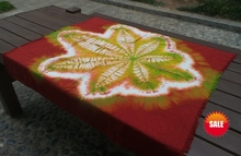 Japanese Shibori Tie dye Arts Big flower Amazing adornment / Handmade Kanoko Table Cloth Many Uses Mats pads Cover