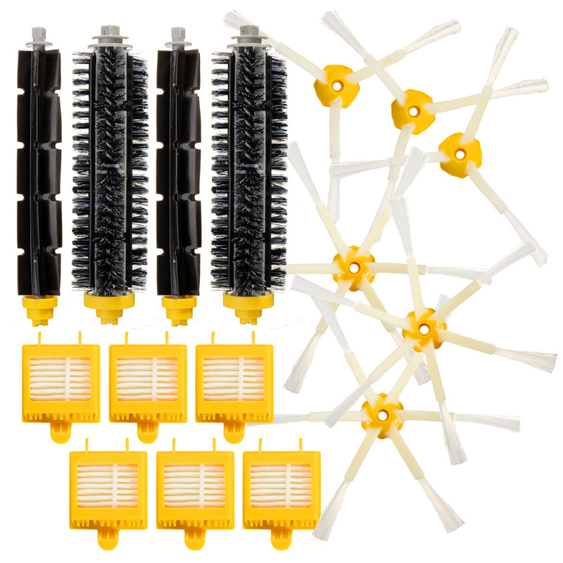 16 Pcs one set Brush & Hepa Filters For iRobot Roomba 700 760 770 780 Vacuum Clean Accessory bristle brush flexible beater brush fit for irobot roomba 500 600 700 series 550 650 660 760 770 780 790 vacuum cleaner parts