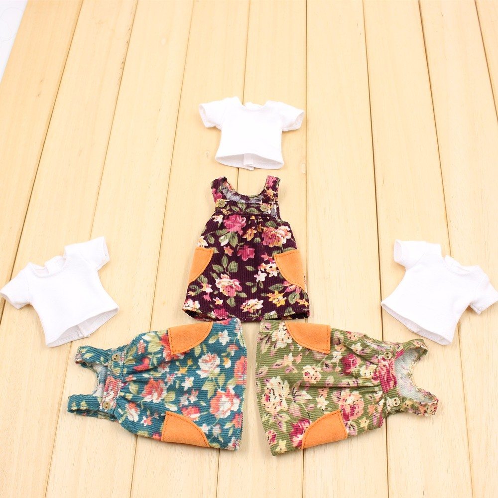 Neo Blythe Doll Floral Spring Overall Dress 4