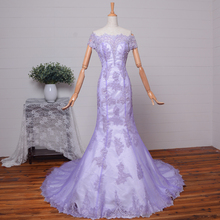 2015 real photos new hot Sexy see through mermaid Prom Dresses lace appliques vestido de festa evening gowns beading boat neck