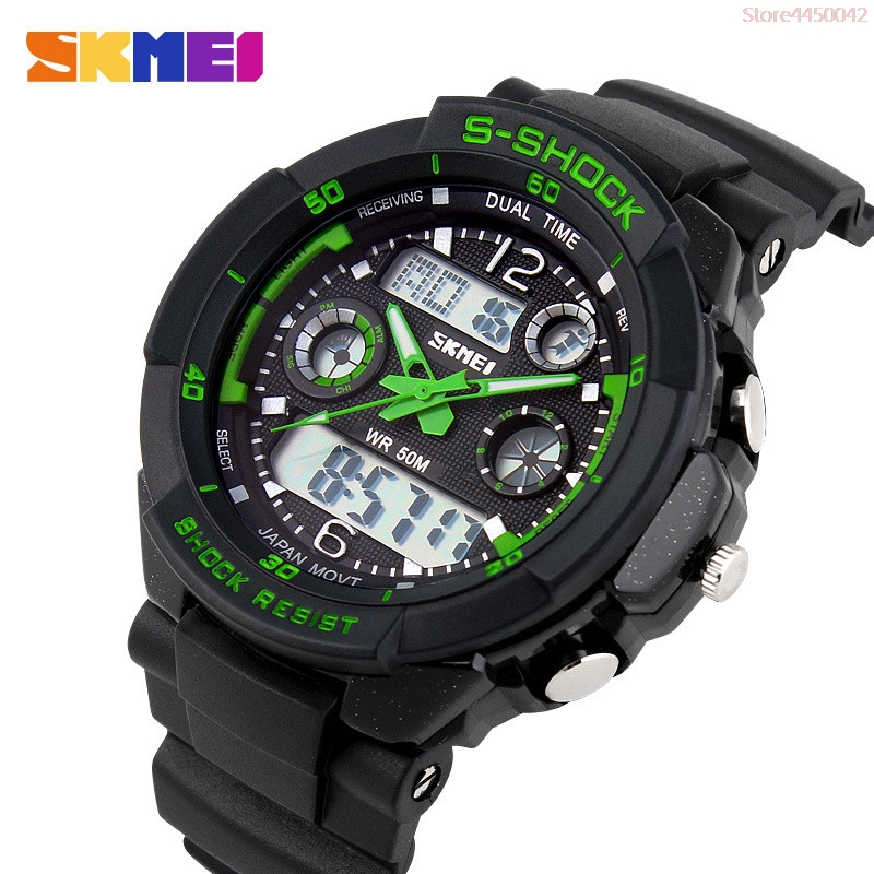 SKMEI Luxury Brand Men Sports Watches Digital Led Sport Wristwatches 50M Water Resistant Relogio Masculino For Mens Quartz Watch