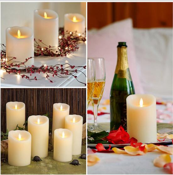LED Electronic Flameless Candle Lights Large DIA Simulation Candle Lamp Party Wedding Favors Birthday Festival Parties