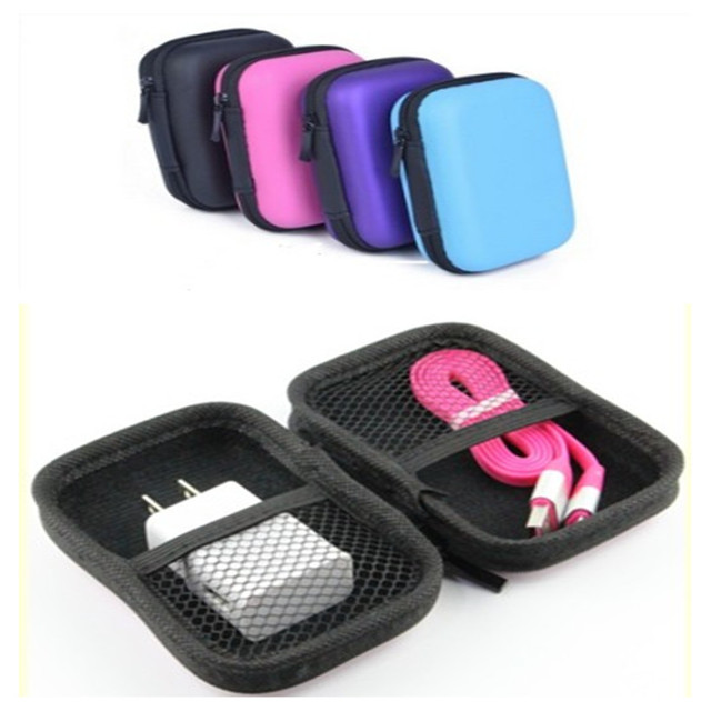 Universal Hard Cases EVA Headphone Storage Case For Cellphone USB Chargers  Cables Headphone Mp3 Mp4