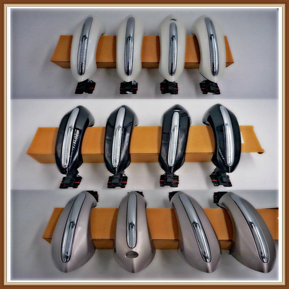 Couleur champagne noir blanc pour BMW série 5 F10 520d 520i 525d 528i 530d 530i poignée de porte avant arrière gauche droite