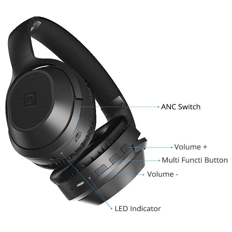 Langsdom BT25 Bluetooth casque actif suppression de bruit casque sans fil stéréo Bluetooth casque avec micro pour téléphone - 5