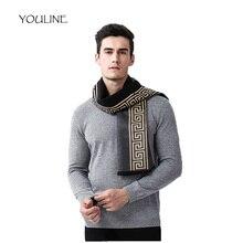 5c5e35244130 YOULINE Multicolore Cachemire Hommes Écharpe D hiver Accessoires De Mode  Laine Mâle Plaid Longues Écharpes