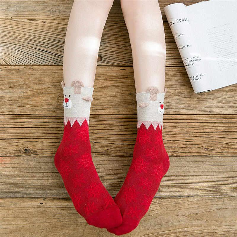 高品質ホット販売! クリスマス女性の綿の靴下マルチカラー人気の弾性冬の女の子の女性靴下クリスマスかわいい靴下ギフト
