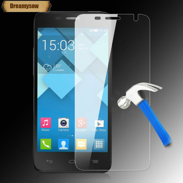 Dreamysow 9H Screen protector Tempered Glass for <font><b>Alcatel</b></font> One Touch Pop <font><b>4</b></font> 5051D 4S 5095 <font><b>4</b></font>+ Plus 5056D A30 A50 A7XL <font><b>idol</b></font> 5 5S Capa