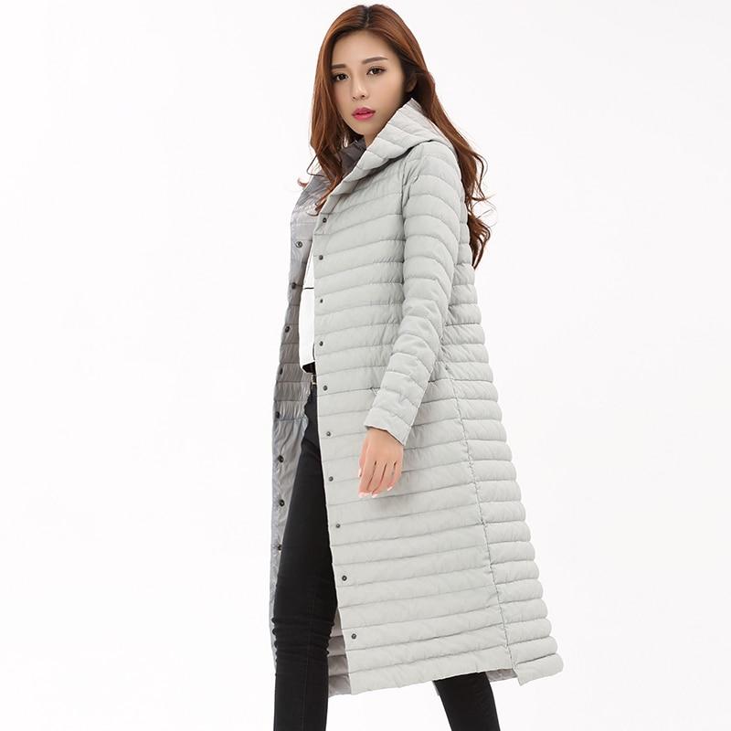 a105f088ad0 2018 Ultra Light Down Jacket Women Long Puffer Coat Plus Size Winter Duck  Brand Stand Collar Lightweight Ultralight Female Coats-in Down Coats from  Women's ...